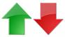 красная и зеленая стрелочки вниз вверх