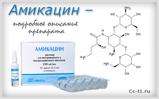 Амикацин - подробное описание препарата