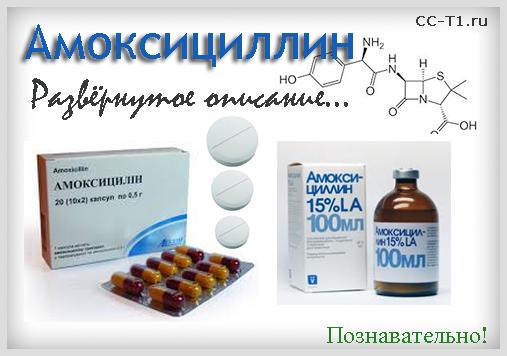 Амоксициллин - развернутое описание препарата, познавательно
