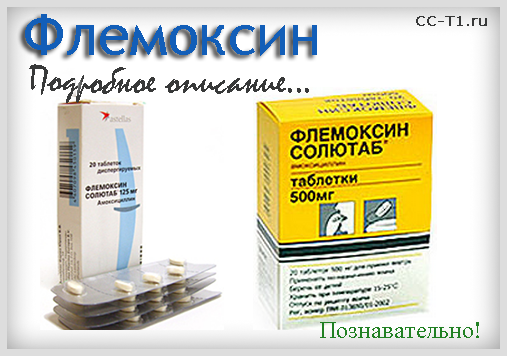 Флемоксин - подробное описание препарата, познавательно