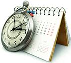 режим - календарь и часы