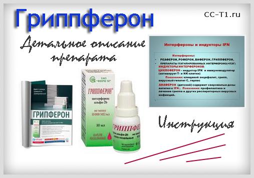 Гриппферон - детальное описание препарата, инструкция