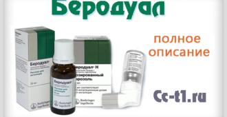 Беродуал подробное описание препарата