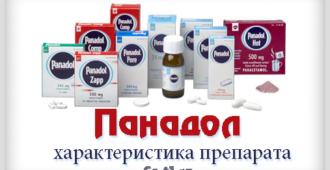 Панадол подробное описание препарата