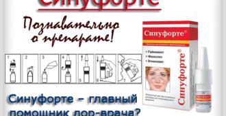 Синуфорте подробное описание препарата