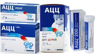 различные формы выпуска препарата АЦЦ