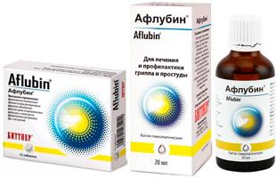 Афлубин капли и таблетки
