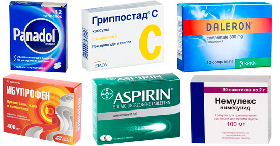 препараты аналоги Парацетамола: Панадол, Далерон, Гриппостад С и др.