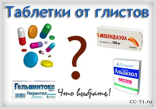 Препараты от глистов и паразитов для человека