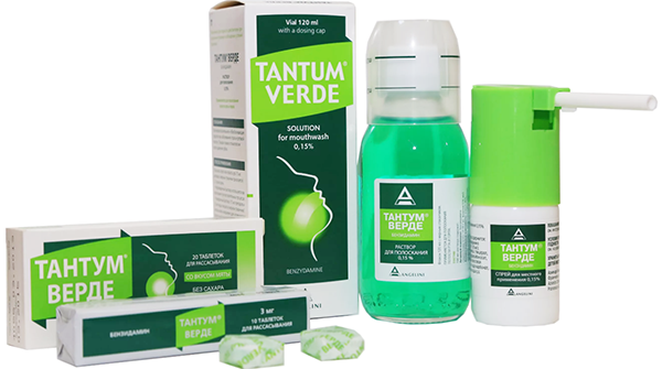 спрей, раствор и таблетки тантум верде