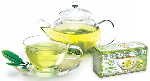 травяной чай от боли в животе