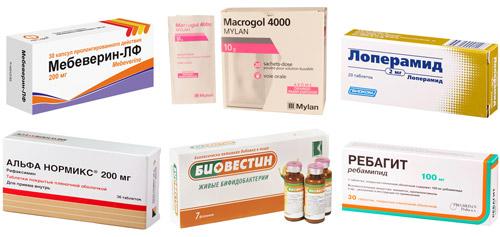 препараты для лечения кишечника: Мебеверин, Макрогол-4000, Лоперамид, Альфа Нормикс, Биовестин, Ребагит