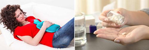 действия при обострении болезни: холодный компресс и обезболивающее