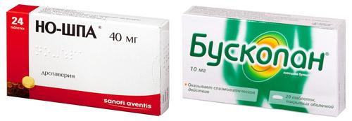 препараты при острой боли: но-шпа и бускопан