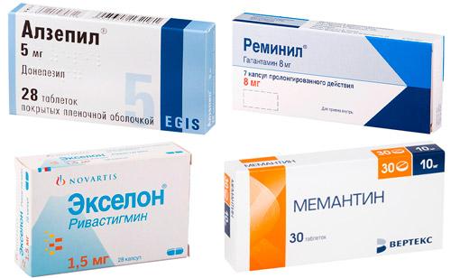 антидементные препараты: Донепезил, Галантамин, Ривастигмин, Мемантин