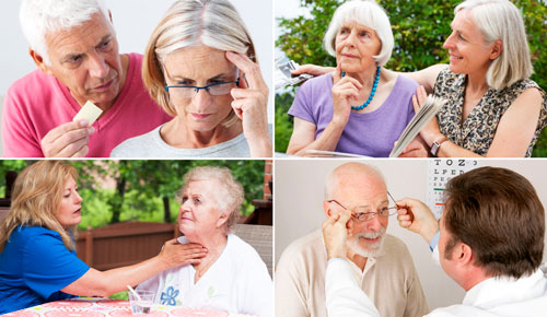 симптомы деменции: нарушение памяти, внимания, речи и визуального восприятия
