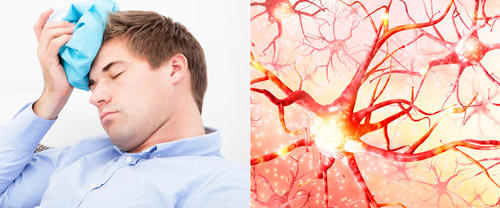 мигрень при гиперактивность и воспалении нервных клеток
