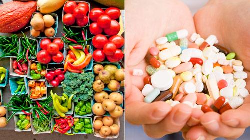 свежие продукты и пищевые добавки
