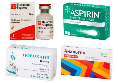 препараты способные вызвать крапивницу: Ванкомицин, Аспирин,Анальгин, Новокаин