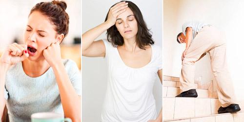 симптомы анемии: слабость и сонливость, бледность кожи, дрожь в конечностях