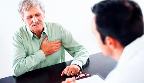 пациент жалуется на боли в груди