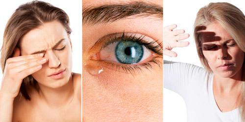 симптомы заболевания глаз: рези, слезотечение, светобоязнь