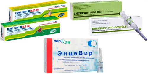 препараты для вакцинации: Энцевир, Фсме-Иммун, Энцепур