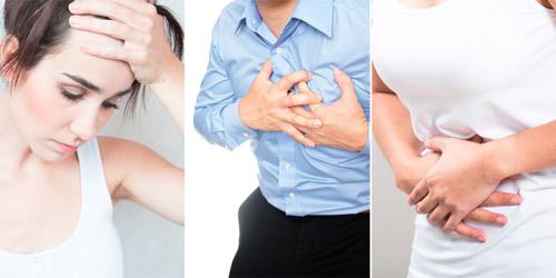 анемический синдром: слабость, бледность, боль в груди и одышка, нарушение пищеварения