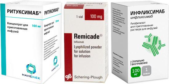 новые препараты против ревматоидного артрита: Ритуксимаб, Ремикейд, Инфликсимаб