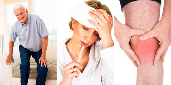 суставной синдром: боль, температура, отек