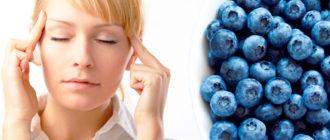спазмы сосудов мозга и черника