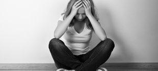 девушка в депрессивном состоянии