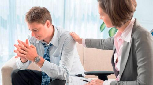 пациент на приме у психиатра