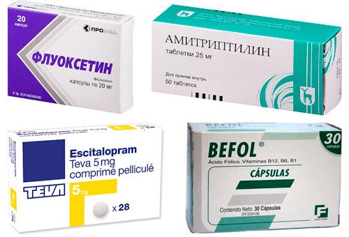 лекарства от депрессии: Флуоксетин, Амитриптилин, Эсциталопрам, Бефол