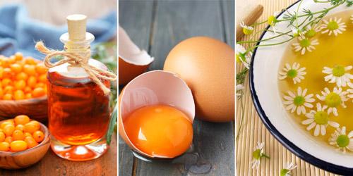 средства народной медицины: масло из облепихи, яйца, ромашки