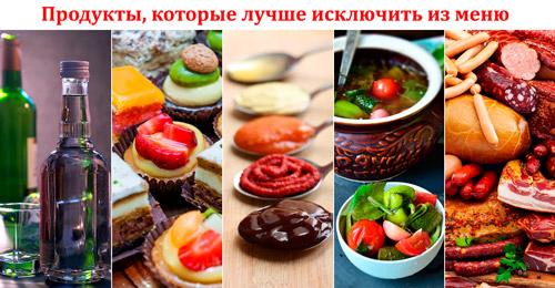 продукты которые лучше исключит из меню при кандидозе