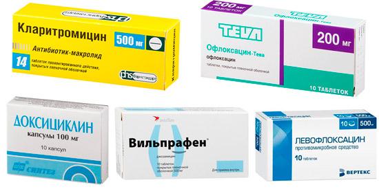 препараты для лечения микоплазмоза: Доксициклин, Джозамицин, Офлоксацин, Кларитромицин, Левофлоксацин