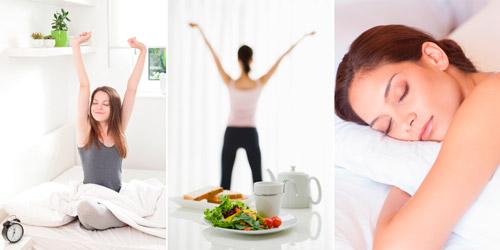 здоровый режим сна и правильное питание