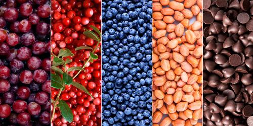 топ 5 продуктов от ВСД: красный виноград, брусника, черника, арахис, шоколад