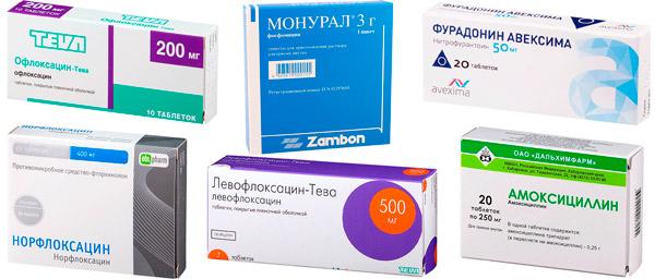 лекарства для лечения цистита: Офлоксацин, Монурал, Фурадонин, Норфлоксацин, Левофлоксацин, Амоксициллин