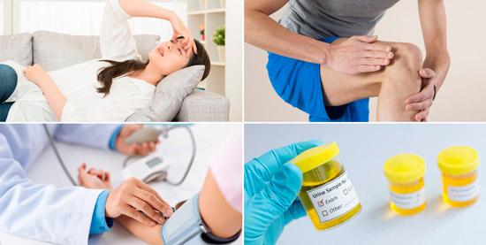 возможные симптомы повышенной мочевой кислоты