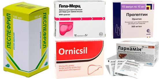 лекарства при повышенном уровне мочевины: Леспенефрил, Гепа-Мерц, Орнилатекс, Орницетил, Ларнамин