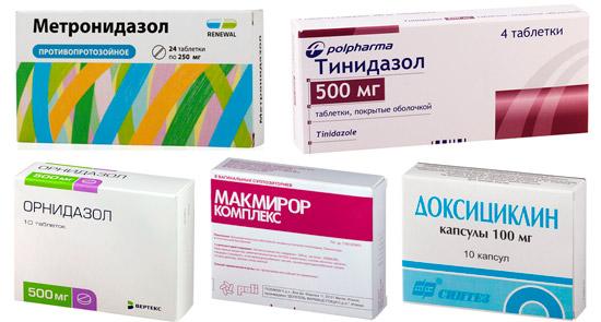 препараты для лечения трихомониаза: Метронидазол, Тинидазол, Орнидазол, Нифурател, Доксициклин