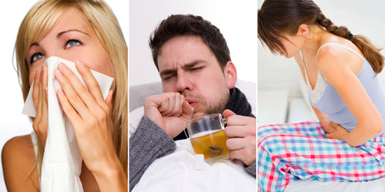 инфекционные заболевания: синусит, ангина, цистит