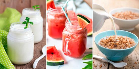 популярные разгрузочные диеты: кефирная, арбузная, гречневая