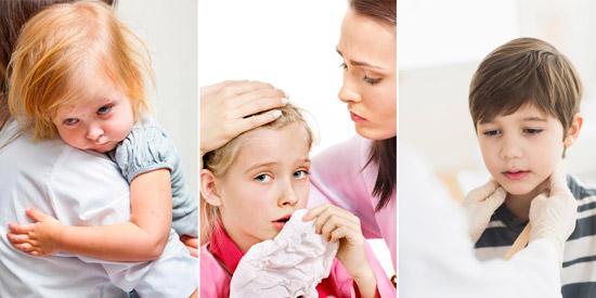 симптомы краснухи: недомогание, заложенность носа, увеличение лимфоузлов