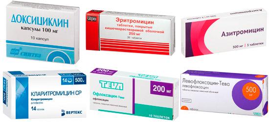 антибиотики против микоплазмы: Доксициклин, Эритромицин, Азитромицин и др.