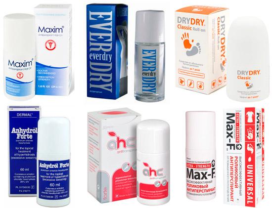эффективные антиперспиранты: Maxim, Everdry, Dry Dry и др.