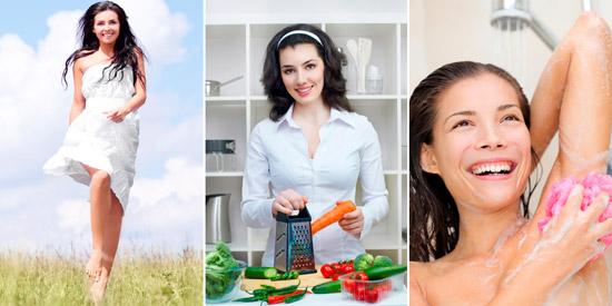 простые способы снижения потливости: легкая одежда, правильное питание, соблюдение гигиены