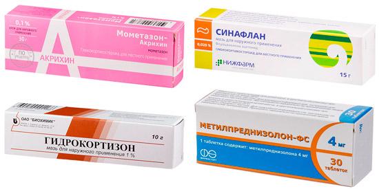 топические стероиды для лечения псориаза: Мометазон, Синафлан и др.